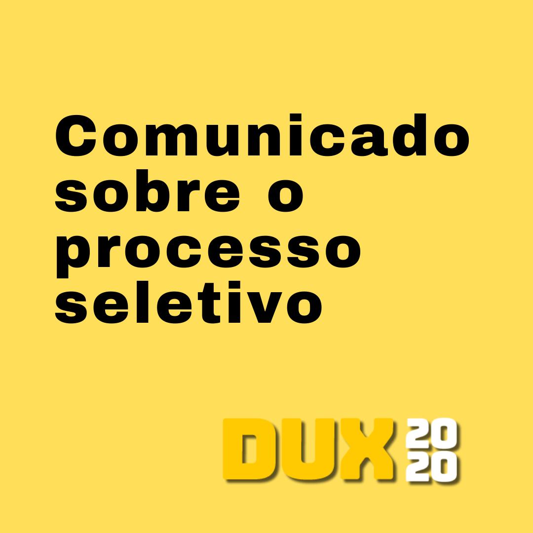 Comunicado: Atualizações sobre o processo seletivo 2020